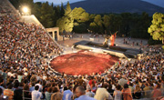 Epidaurus Theatre in Argolis Greece