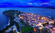 Nafplio port at night